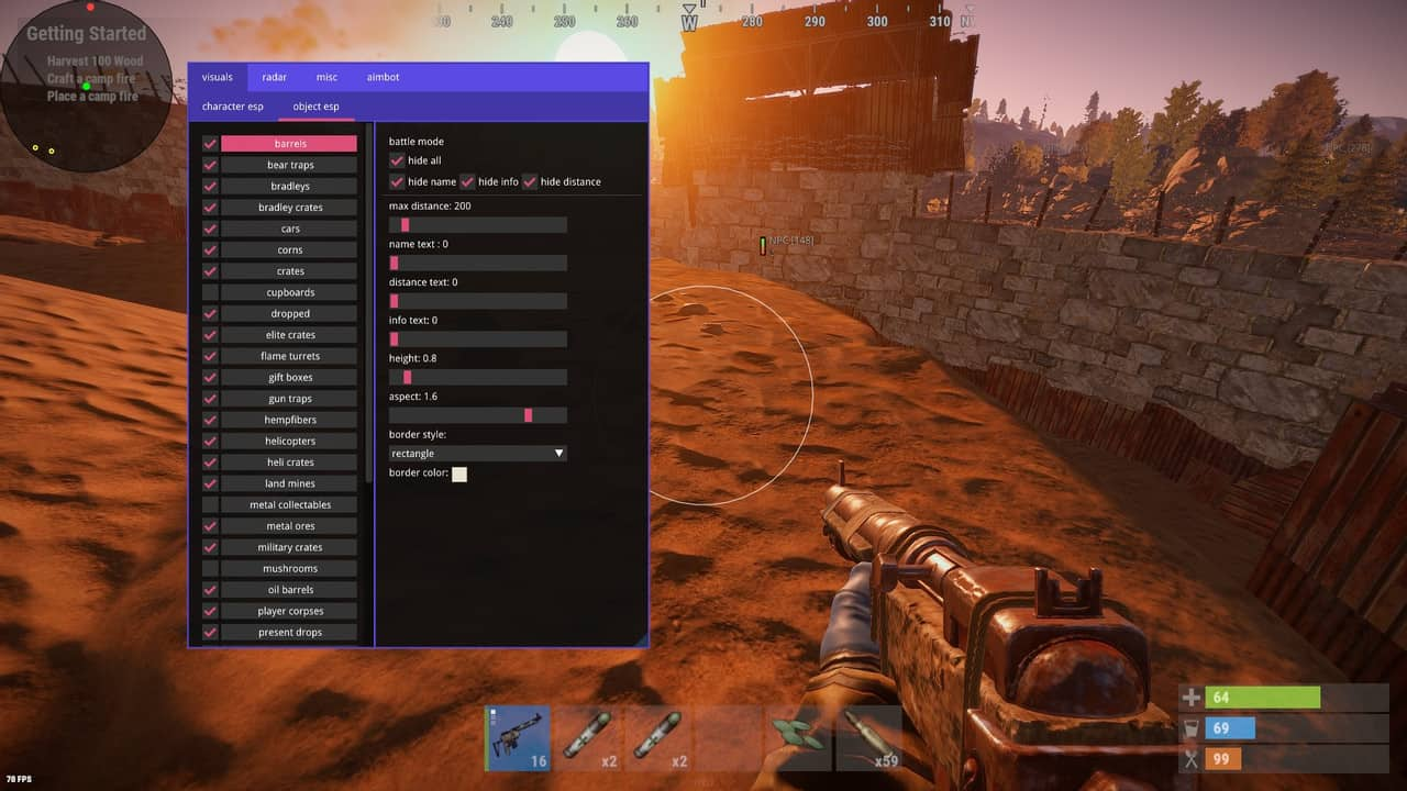 rust hacks menu